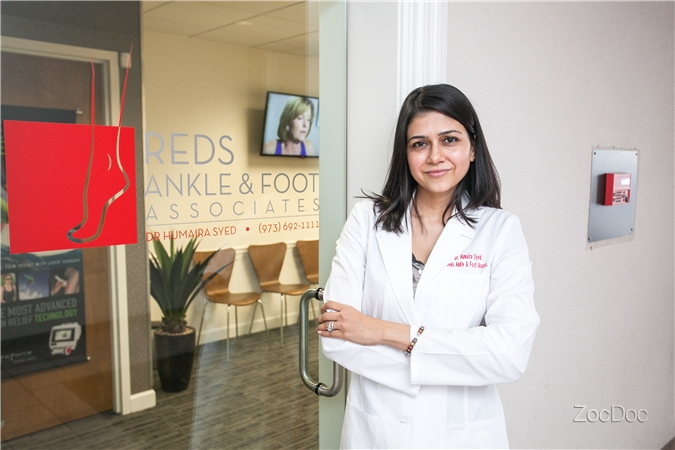 Dr. Humaira Syed. Wayne, NJ. Saddle Brook, NJ. Laser therapy. Podiatry. Foot, Ankle, Surgeon.